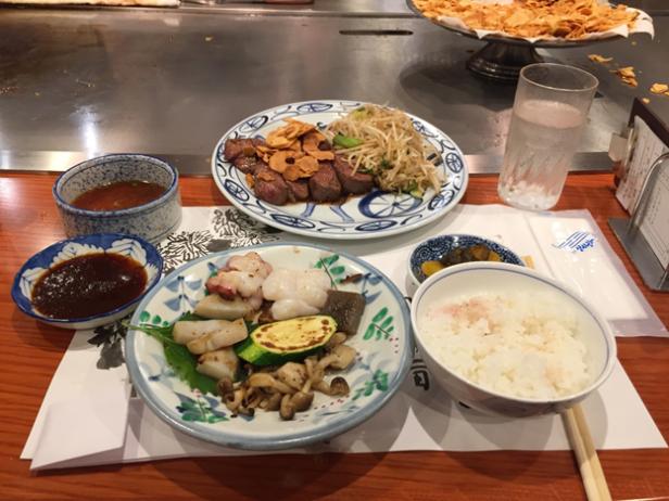 kobe beef dinner at steakland