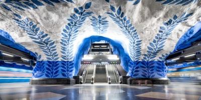 Largest Art Exhibit Stockholm Metro