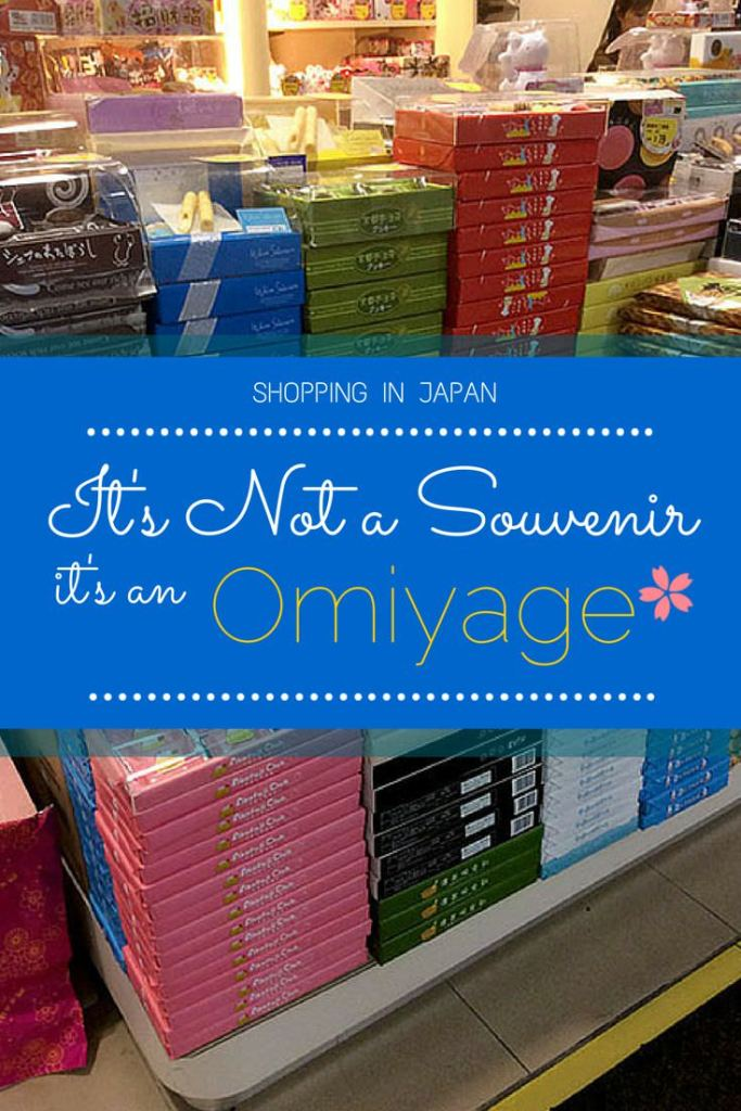 Omiyage is not just a Souvenir